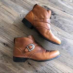 Ariat Ankle Boots Booties Juliet Brown Buckle 8